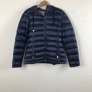 Andrew Marc Navy Blue Packable Puffer Jacket XS
